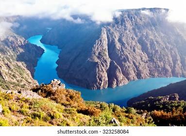 Canyon de Rio Sil, Galicia, Spain