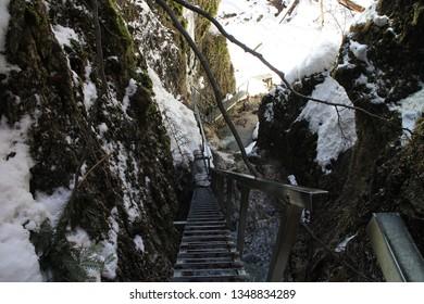 Canyon Jánošíkove diery in Malá Fatra mountains, Slovakia