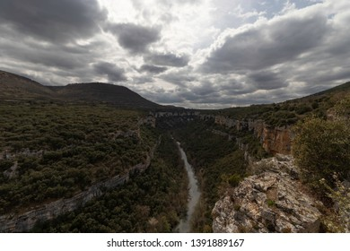 Canyon of the Ebro River in Castilla y León, Spain.