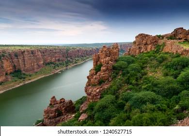 Canyon in gandikota, Kadapa, Andhra Pradesh, India