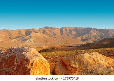 Canyon in the Judean Desert on the West Bank