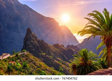 Canyon Masca on Tenerife, Canary Islands. Spain