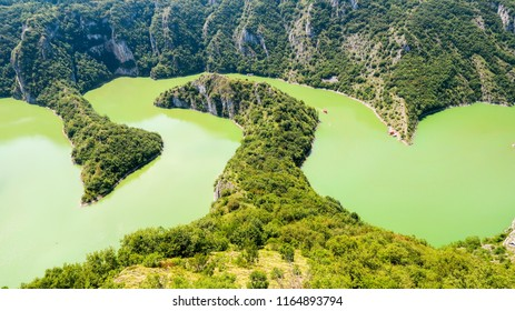 Canyon and Meanders of River Uvac in Serbia
