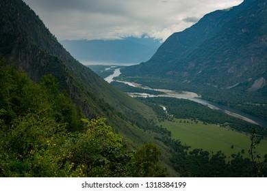 Canyon near village Balykcha on Chulyshman River, Altay, Siberia, Russia