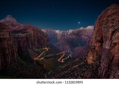 Canyon Overlook, Zion National Park, Utah, USA