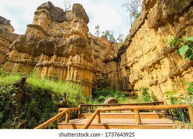 Canyon of Pha Chor at the Doi Lo district Chiang Mai, in Thailand. It is the tourist attraction place and very popular for photographer and tourists.