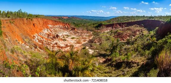 The canyon of red tsingy of Diego Suarez (Antsiranana), Madagascar
