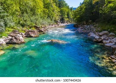 The canyon of the river Tara, under the bridge Djurdjevic.  Montenegro.