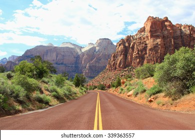 Canyon road mountains