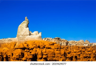 Canyon of the sandy mountains. Sandstone mountain rocks. Sandstone canyon in mountains