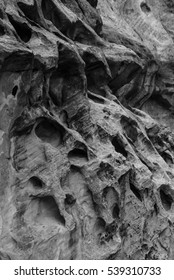 Canyon Wall Texture at Capitol Reef National Park (Black and White)