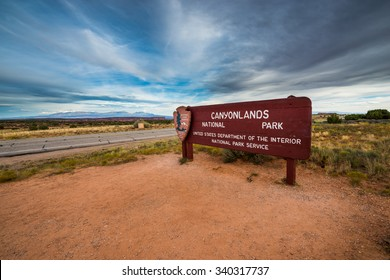 Canyonlands National Park Entrance Sign  Moab Utah United States