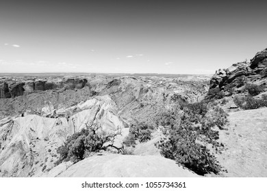 Canyonlands National Park in Utah, USA. Island in the Sky district - famous Upheaval Dome crater which may have been created by meteor impact.