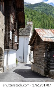Canza (VCO), Italy - June 21, 2020: Canza village, Formazza Valley, Ossola Valley, VCO, Piedmont, Italy