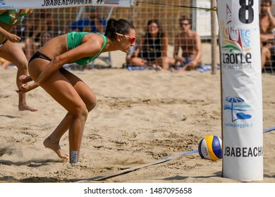 Caorle (VE), Italy, August 25 2019 Michela Lantignotti during Semifinals Championship Absolute 2019 - Men And Women Beach Volley