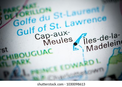 Cap aux Meules. Canada on a map.