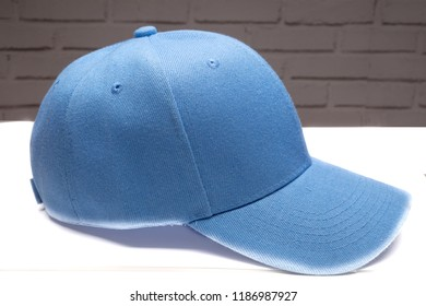 cap blue with background