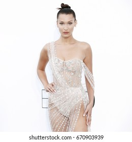CAP D'ANTIBES, FRANCE - MAY 25: Bella Hadid arrives at the amfAR Gala Cannes 2017 at Hotel du Cap-Eden-Roc on May 25, 2017 in Cap d'Antibes, France.