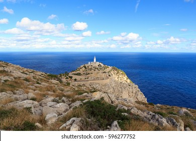Cap de Formentor Lighthouse panorama and Mediterranean Sea, Majorca, Spain