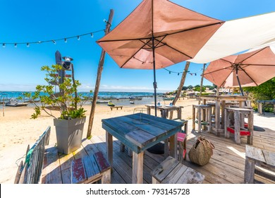 Cap Ferret (Arcachon Bay, France), terrace at seaside
