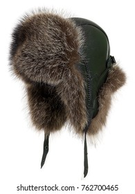 Cap with fur, russian hat, isolated