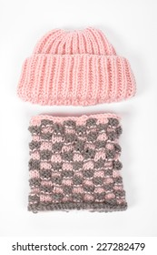 Cap and gloves, Cold winter clothing - hat or cap, scarf. knitted