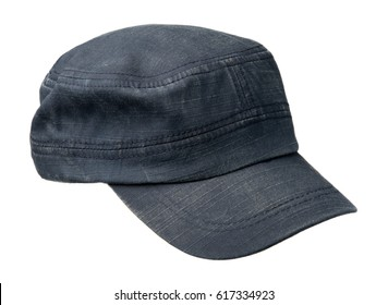 cap isolated on white background. cap with a visor. blue cap .