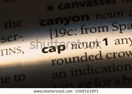 Cap Word Dictionary Cap Concept Stock Photo (Edit Now) 1068161891 ... 48476fc662f5