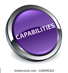 Capabilities isolated on 3d purple round button abstract illustration