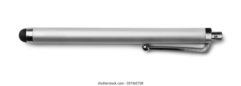Capacitive touchscreen stylus isolated on white