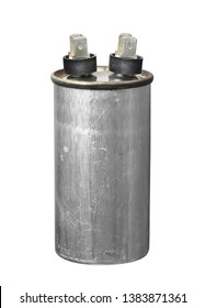 Capacitor run start motor (with clipping path) isolated on white background