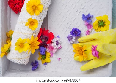 Flowers Paint Roller Stock Photos, Images & Photography