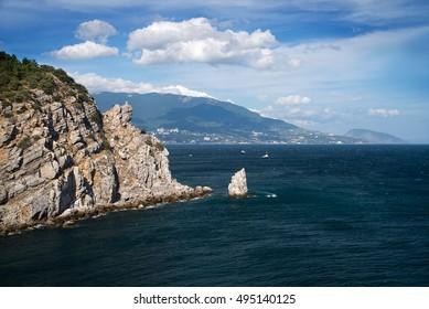 Cape Ai Todor, view on sea. Gaspra, Crimea