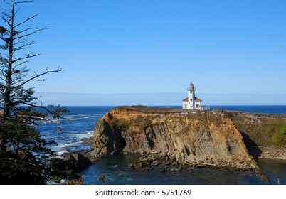 Cape Arago Lighthouse on the Oregon Coast