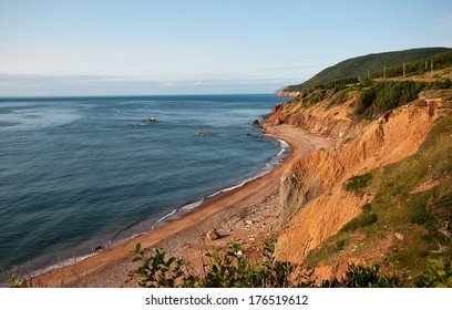 The Cape Breton Island coastline, near Pleasant Bay, Nova Scotia.