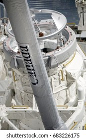 Cape Canaveral, Florida - February 12, 2017:  Close up of Space Shuttle Atlantis in Kennedy Space Center on February 12, 2017.