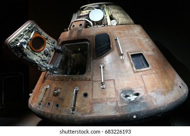 Cape Canaveral, Florida - February 12, 2017: Command Module of Apollo 14 in Kennedy Space Center on February 12, 2017.