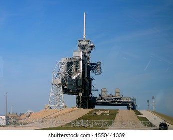 Cape Canaveral, Florida, USA - December 31, 2013: NASA´s Kennedy Space Center Launch Complex 39
