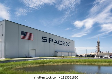Cape Canaveral, Florida, USA - June 12, 2018: Space X launch pad in Kennedy Space Center
