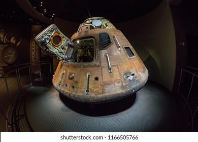 Cape Canaveral, Florida, USA - June 2015 : NASA Kennedy Space Center, Apollo 14 capsule