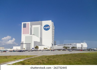 Cape Canaveral, Florida, USA - MARCH 20, 2015: NASA Main Building, Spacecraft assembly building