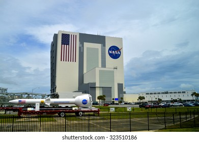 Cape Canaveral, Florida, USA - May 6, 2015: Orion rocket in Kennedy Space Centre
