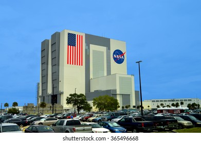 Cape Canaveral, Florida, USA - May 6, 2015: NASA Vehicle Assembly Building at Kennedy Space Center