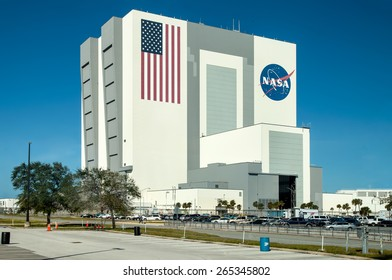 CAPE CANAVERAL, USA - NOVEMBER 22: Exterior view of NASA Launch Control Center at Kennedy Space Center, Cape Canaveral in Florida at November 22, 2011