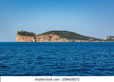 """Cape """"Capo Caccia"""" near Alghero on the island of Sardinia"""