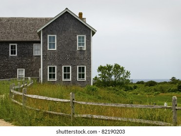 """""""Cape Card Architecture""""  A building along the coastline of Cape Cod in Massachusetts."""