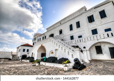 Cape Coast Castle is a fortification in Ghana built by Swedish traders for trade in timber and gold. Later the structure was used in the trans-Atlantic slave trade.