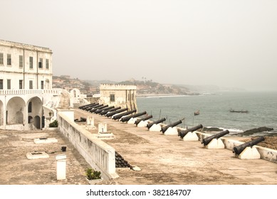 """The Cape Coast Castle in Ghana is one of about forty """"slave castles"""", or large commercial forts, built on the Gold Coast of West Africa"""