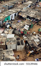 Cape Coast fishing houses and community in Ghana
