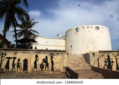 Cape Coast, Ghana - March 10th 2013: Historical fortress in Cape Coast, also known as the Gateway to Hell, as this was one of the forts used to imprison slaves before they were sent across the ocean